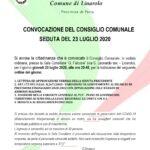 CONVOCAZIONE DEL CONSIGLIO COMUNALE SEDUTA DEL 23 LUGLIO 2020
