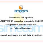 COMUNICAZIONE SPORTELLO SIMECOM