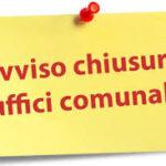 AVVISO MISURE URGENTI CONTRO LA DIFFUSIONE DEL CORONAVIRUS: DISPOSIZIONI OPERATIVE DAL 06/11/2020